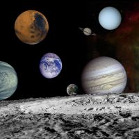 The planets in a solar system montage, by NASA
