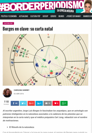 Borges in key: his birth chart, on Borderperiodismo