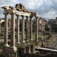 The columns of Saturn at the Roman Forum